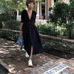 Free people love of my life black midi dress